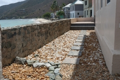 Seaside walkway from the  west side of Villa